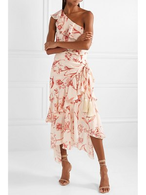 Johanna Ortiz the inamorado one-shoulder floral-print silk-georgette midi dress