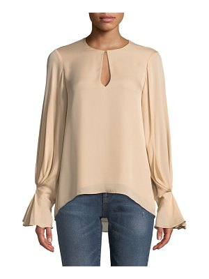 Joie Abekwa Long-Sleeve Silk Top