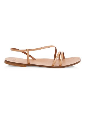 Joie baja leather strappy flat sandals