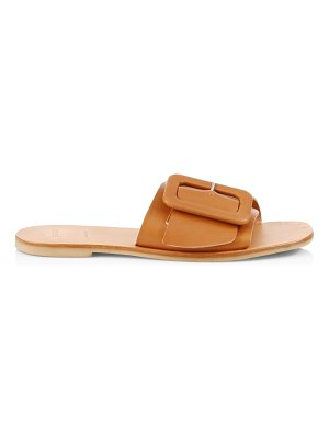 Joie ballisson flat buckle leather sandals