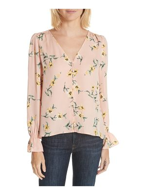 Joie bolona peasant sleeve silk top