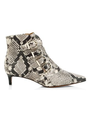 Joie calinda snake-embossed leather kitten heel booties