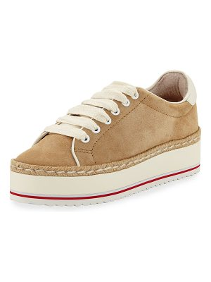 Joie Dabnis Suede Platform Low-Top Sneakers