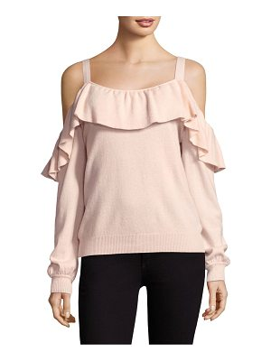 JOIE Delbin Ruffle Off-The-Shoulder Sweater