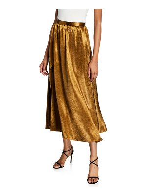 Joie Duffy Metallic Slit Midi Skirt