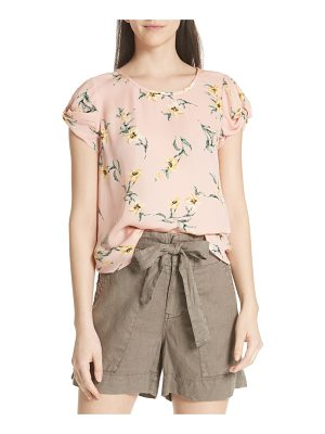 Joie elline knot sleeve silk top