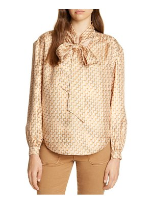 Joie joslin bow silk top
