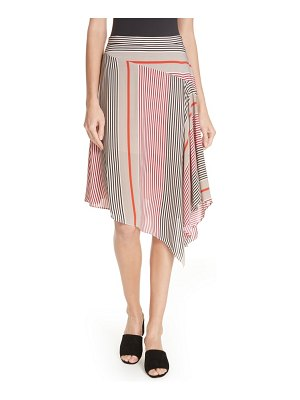 Joie moni asymmetrical stripe skirt