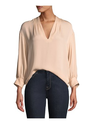 Joie Ninarika Silk V-Neck Top