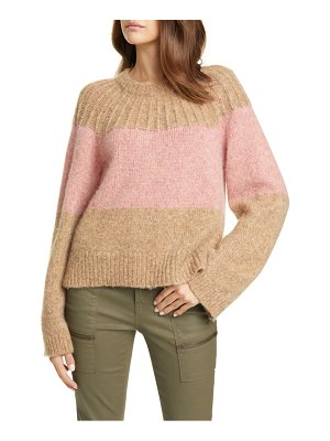 Joie nirmala colorblock wool & alpaca crewneck sweater