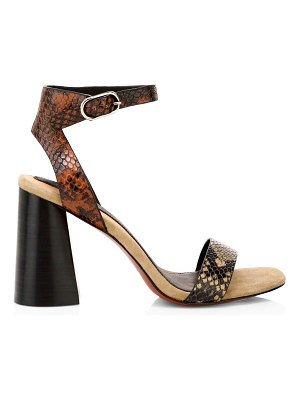 Joie odeum snakeskin-embossed leather sandals