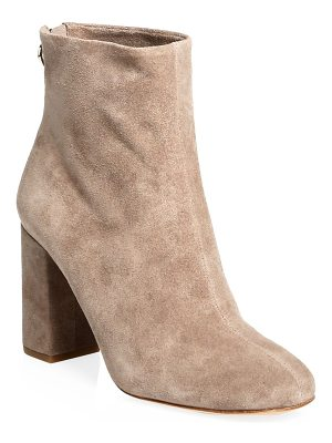 Joie saleema suede back-zip block-heel booties