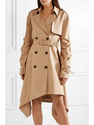 Jonathan Simkhai asymmetric cotton-twill trench coat