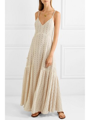 Jonathan Simkhai crocheted cotton-blend gauze maxi dress