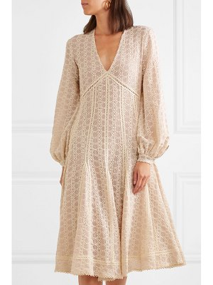 Jonathan Simkhai crocheted cotton-blend gauze midi dress