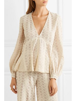 Jonathan Simkhai crocheted cotton-blend gauze top