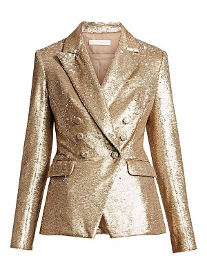 Jonathan Simkhai distressed sequin double-breasted blazer