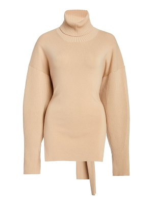 Jonathan Simkhai eleanor tie-back turtleneck sweater