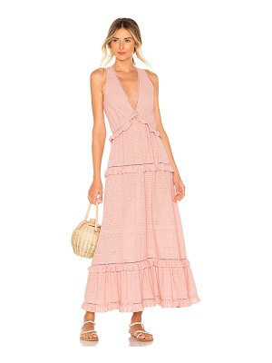Jonathan Simkhai Embroidered Ruffle Tank Dress