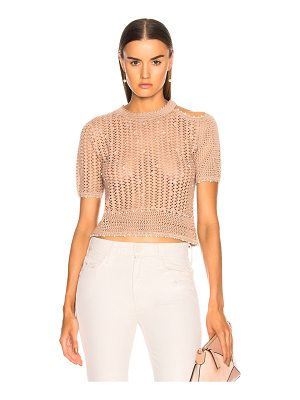 JONATHAN SIMKHAI For Fwrd Pearl Knit Crop Top
