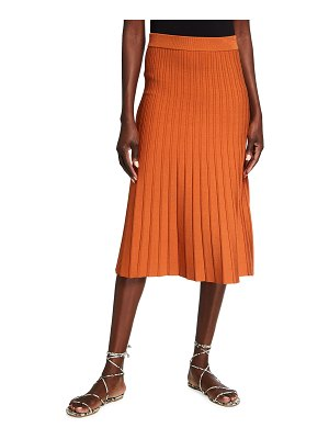 Jonathan Simkhai Ira Compact Knit Pleated Midi Skirt