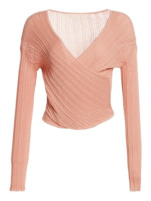 Jonathan Simkhai knitted surplice top