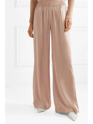 Jonathan Simkhai lace-paneled satin wide-leg pants