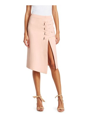 Jonathan Simkhai lace-up jacquard skirt