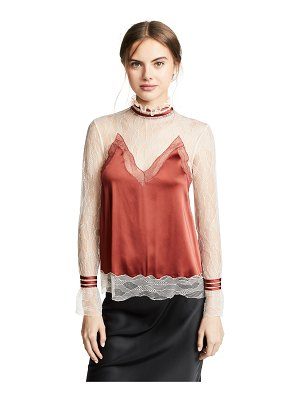 Jonathan Simkhai lingerie sateen mock neck top