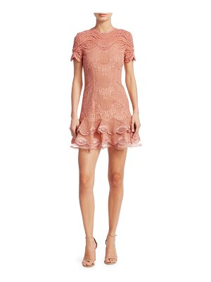 Jonathan Simkhai mixed lace cap sleeve mini dress