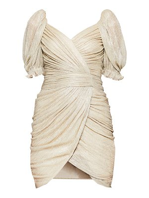 Jonathan Simkhai nina plisse wrap mini dress