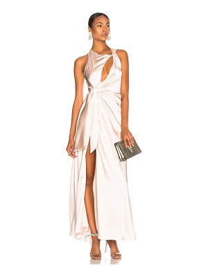 Jonathan Simkhai Off Shoulder Slit Gown