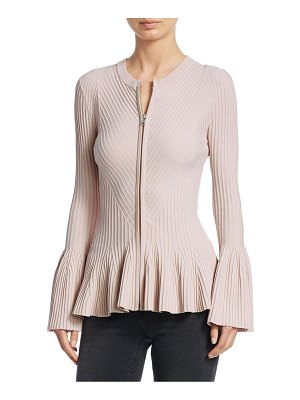 Jonathan Simkhai rib-knit zip-up jacket