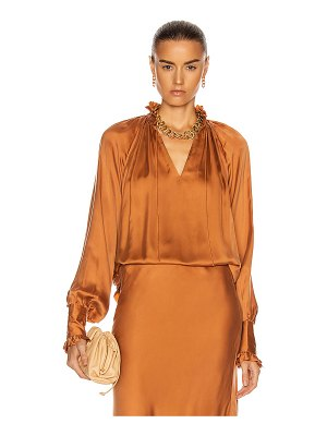 JONATHAN SIMKHAI STANDARD ruched front long sleeve top