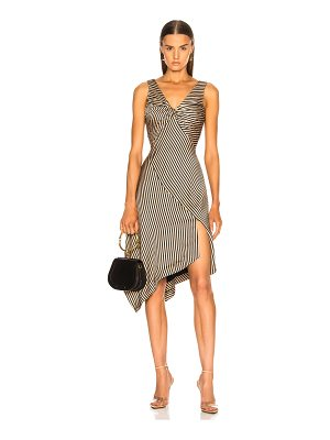 Jonathan Simkhai Striped Twist Midi Dress