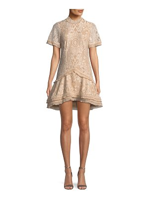 JONATHAN SIMKHAI Tower Mesh Mini Cocktail Dress