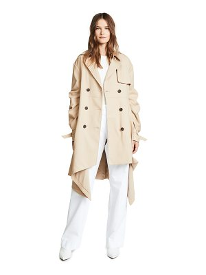 Jonathan Simkhai tucked sleeve trench coat