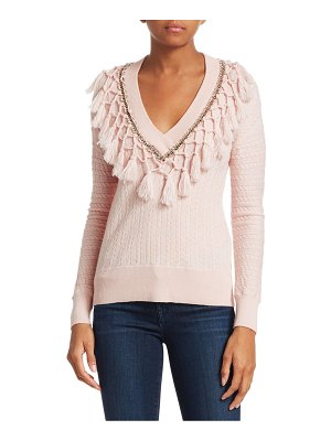 Jonathan Simkhai wool metal tassel sweater