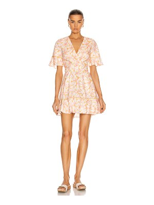 Jonathan Simkhai zoey belted ruffle mini dress