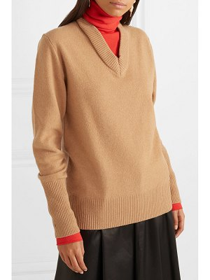 Joseph layered two-tone wool-blend turtleneck sweater