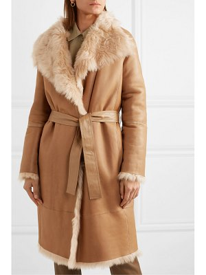 Joseph liman belted shearling coat