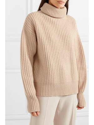 Joseph pearl ribbed wool turtleneck sweater