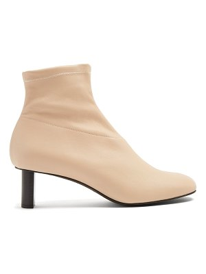 Joseph Round-toe leather ankle boots