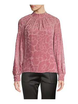 Josie Natori mockneck burnout top