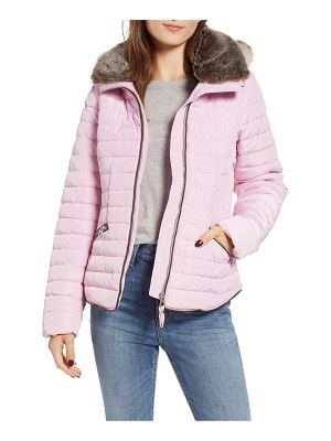 Joules faux fur hooded coat