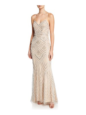 Jovani Retro Beaded Sweetheart Slip Gown