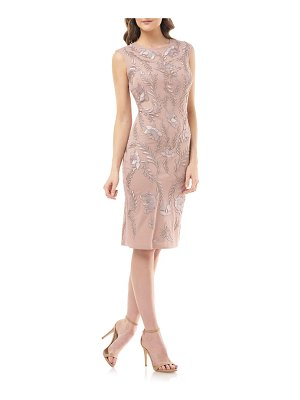 JS Collections dori embroidered cocktail dress