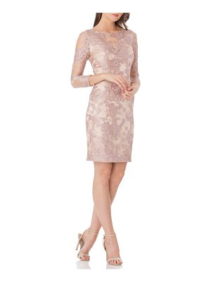 JS Collections embroidered lace cocktail dress