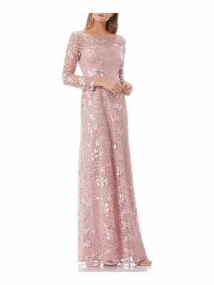 JS Collections embroidered tulle gown