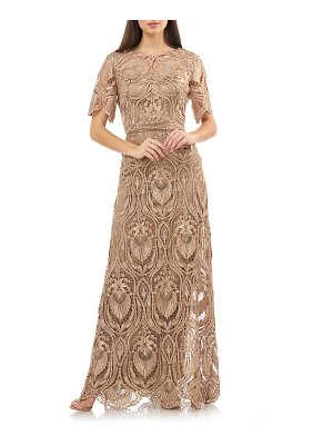 JS Collections js collection illusion lace evening dress